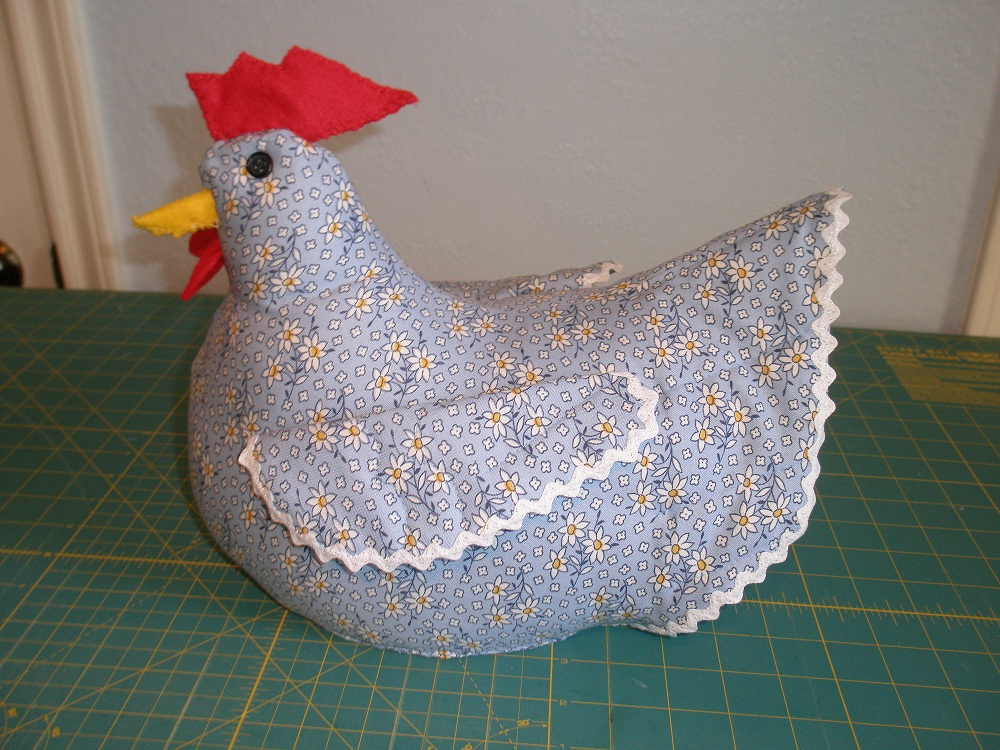 Susan sews chicken doorstop tutorial - Chicken doorstops ...