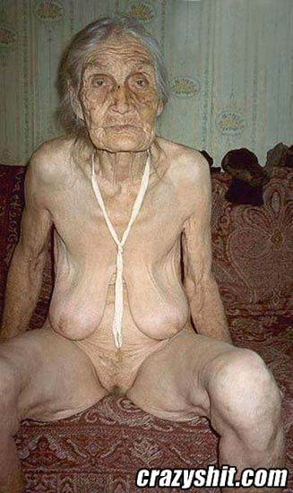 Naked nude older woman