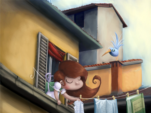 ilustracion infantil digital  cuento ilustrado
