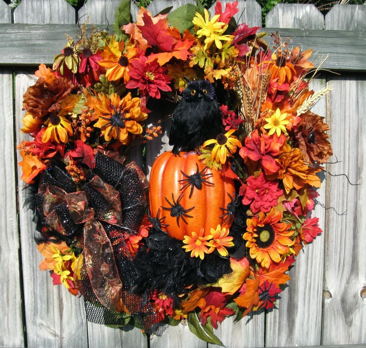 igw gallery halloween spooky owl fall wreath