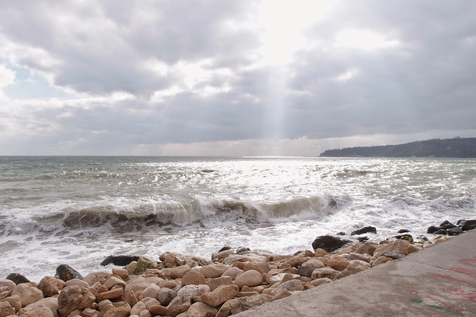 light in a gloomy day - Black Sea, Varna, March 2015
