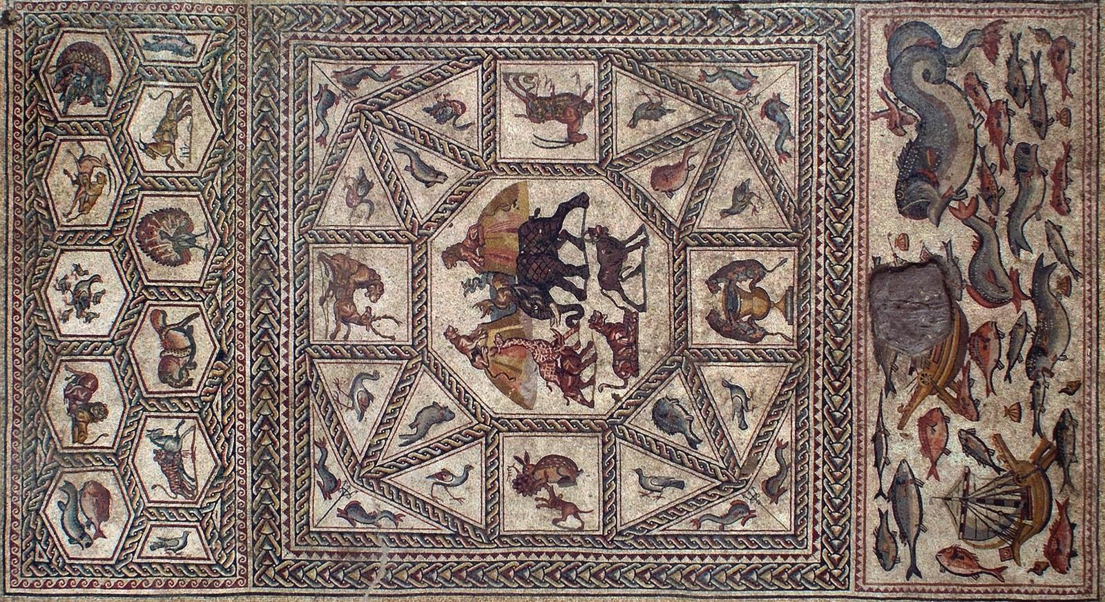 Mountshang Roman Mosaic Floor From Lod