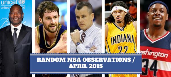 NBA Observations April 2015