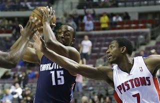Detroit Pistons, Charlotte Bobcats, NBA, Kemba Walker, Jonas Jerebko, Andre Drummond