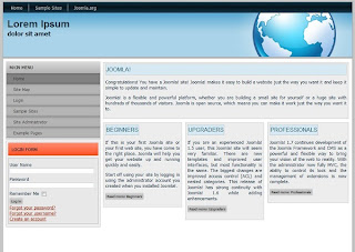 2 column joomla 1.7 template