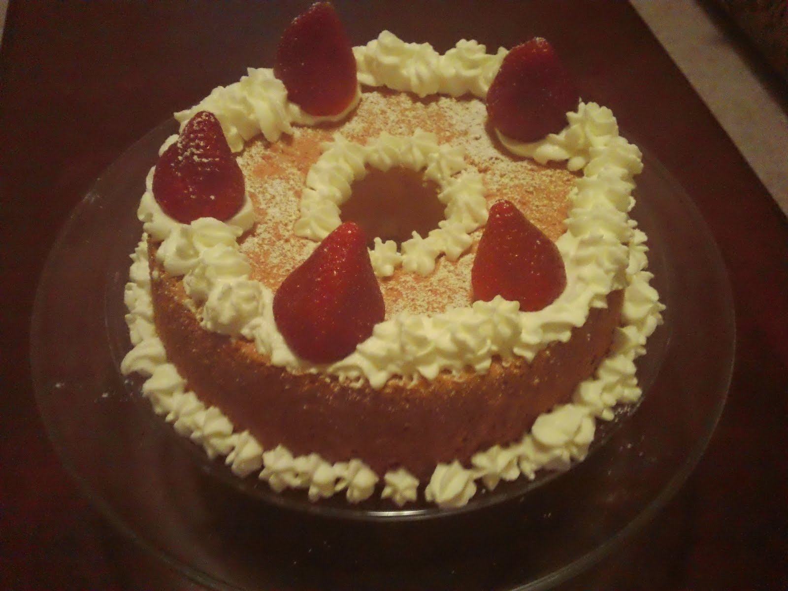 Happy Cooking Angel Food Cake Decoration