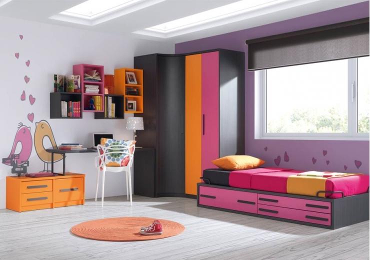 dormitorios infantiles juvenil compuesto por cama con de rincon u