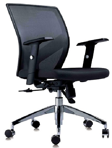 Low Back Mesh Chair with Adjustable Armrest and Seat Height