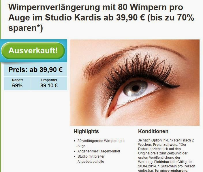 Wimpernverlängerung - www.annitschkasblog.de