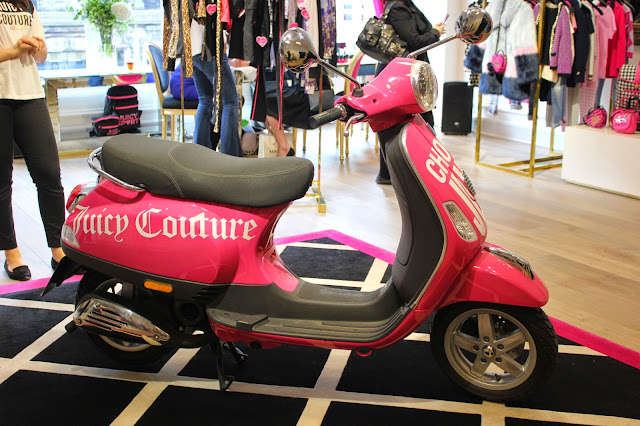 georgie-georgina-minter-brown-fashion-blogger-actress-juicy-couture-press-day-fall-2015-clothes-style-new-outfits-vespa-scooter