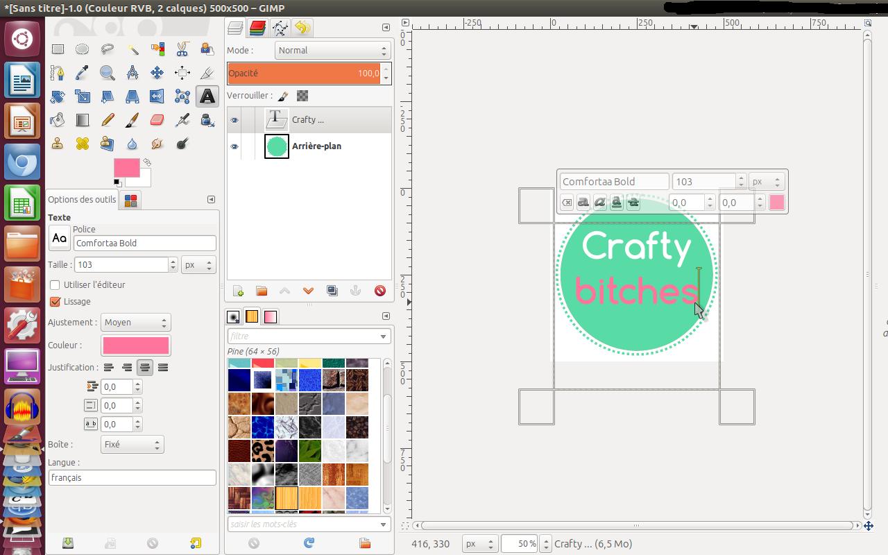 creation logo avec gimp