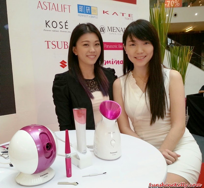 Panasonic Beauty, Panasonic Beauty Pore Cleanser, Japan Beauty Week, On Stage presentation, on stage demo, Face Hair Ionizer, Facial Ionic Steamer, Pore Cleanser, Eyelash Curler