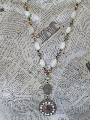 Victorian assemblage necklace