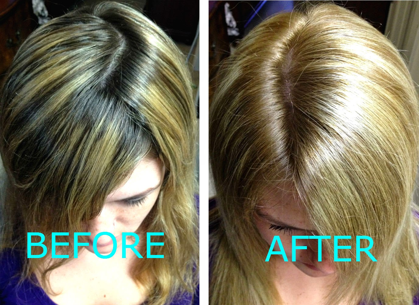 Beauty101bylisa bleaching hair vs highlights nicoles hair using a box color is a great inexpensive way to quickly get rid of dark roots after your highlights start to grow out pmusecretfo Images
