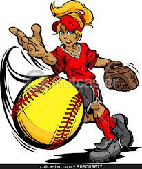 Picture of a cartoon softball player