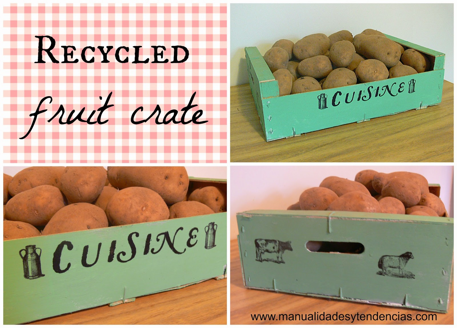 Recycled fruit crate