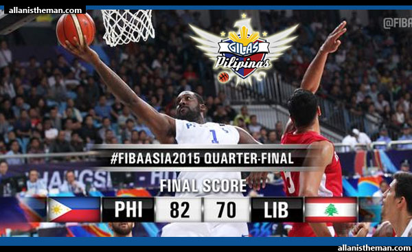 Gilas Pilipinas defeats Lebanon to reach FIBA Asia 2015 semis (VIDEO)