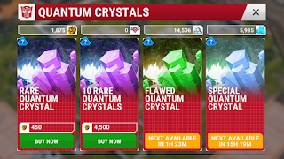 transformers earth wars rare quantum crystals
