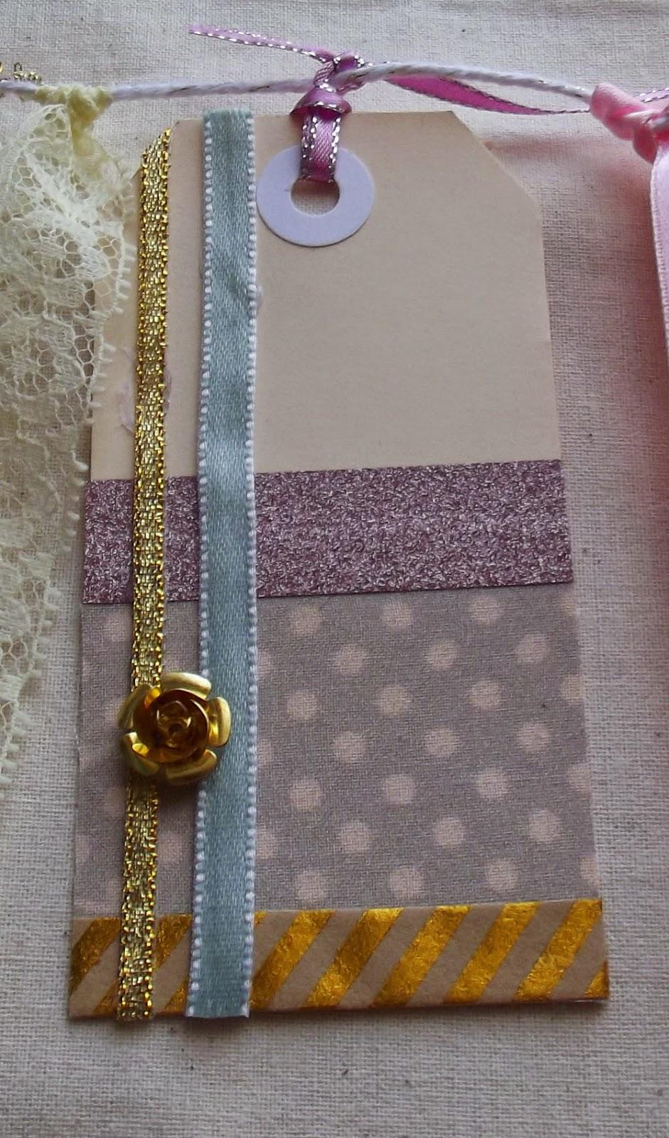 fabric ribbon foil tape rose charm