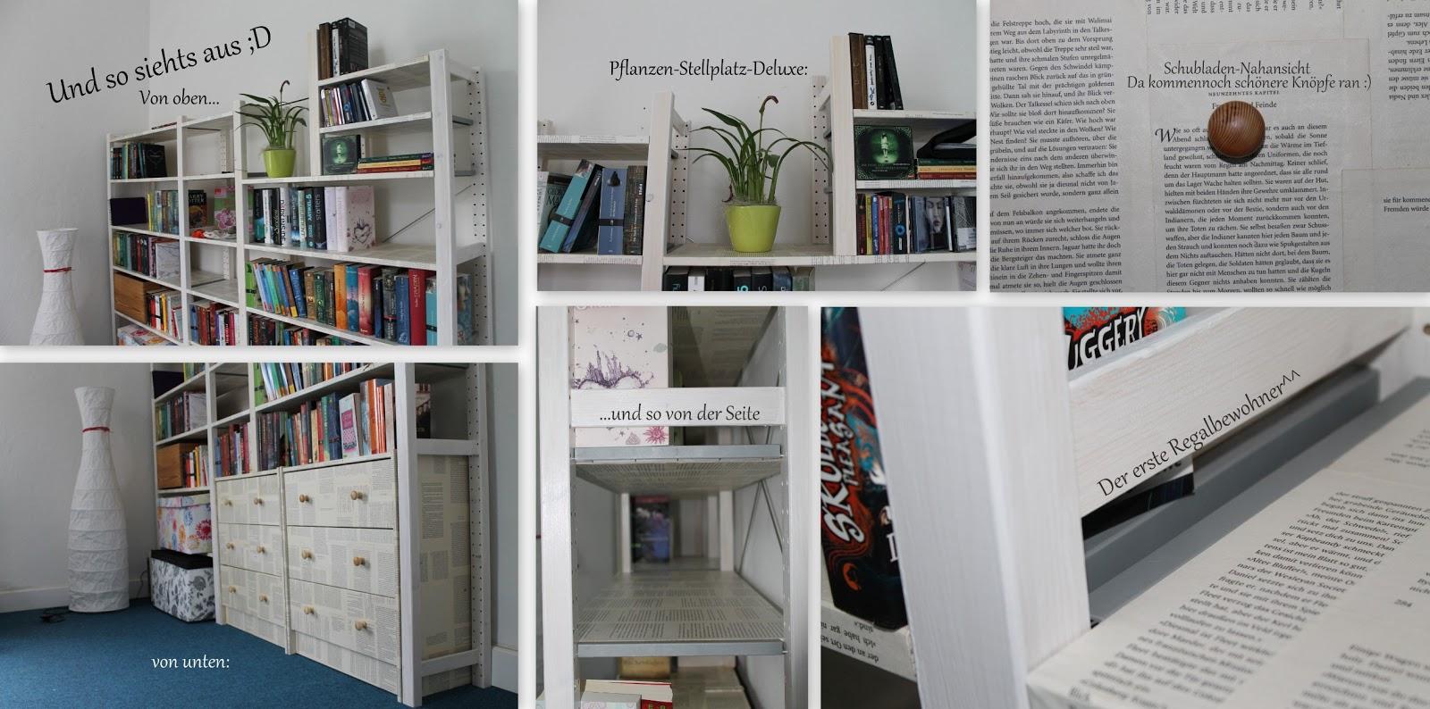 thelostwor l d workshop wie man b cherregale mit buchseiten tapeziert aka regal buch ception. Black Bedroom Furniture Sets. Home Design Ideas
