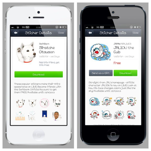 free line stickers from japan shop