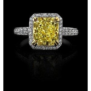 Diamond Princess Cut Wedding Rings 40 Simple Engagement rings yellow diamond