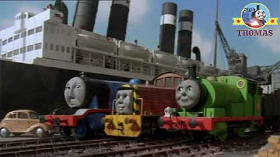 Thomas and friends Gordon the tank engine sea Salty the dockyard diesel Percy the little locomotive