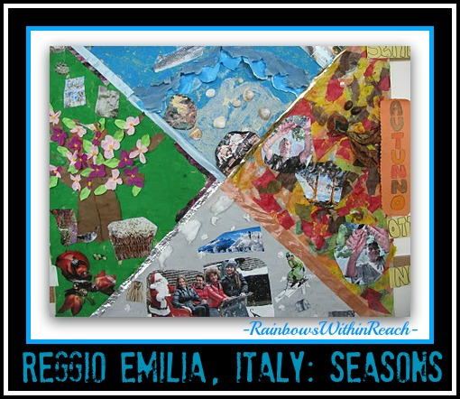 Diagram of Seasons as Science: Art Project from Reggio Emilia Italy (RoundUP via RainbowsWIthinReach)