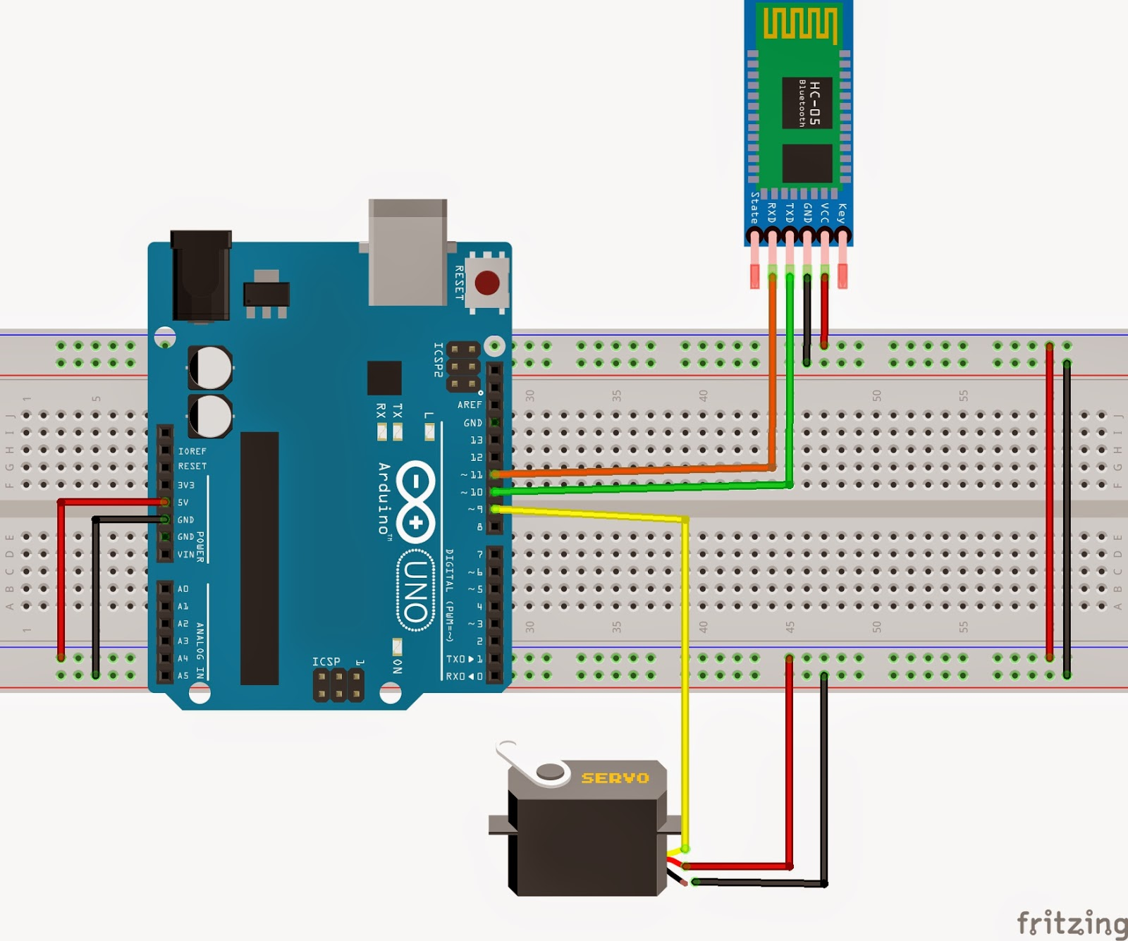 Line Follower Using Servo, RFID and Ultrasonic Sensor