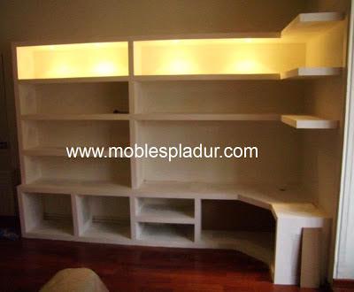 Pladur barcelona pladur estanterias for Muebles de diseno barcelona