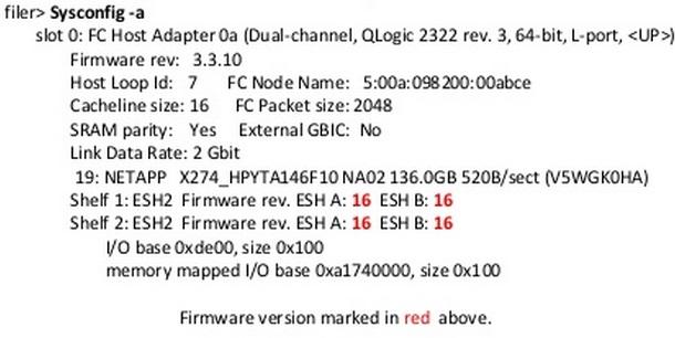 netapp disk firmware update