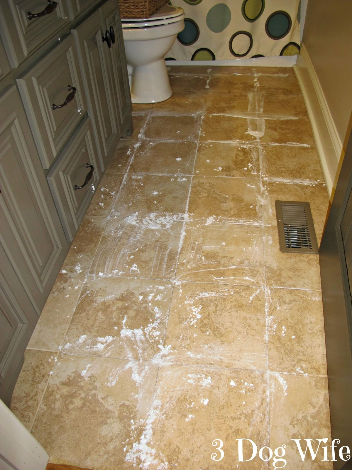 how to clean up dog vomit from tile