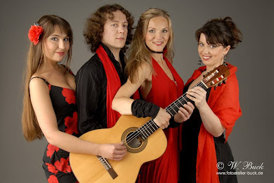 Russian female string quartet with Dimitri Illarionov and his girlfriend