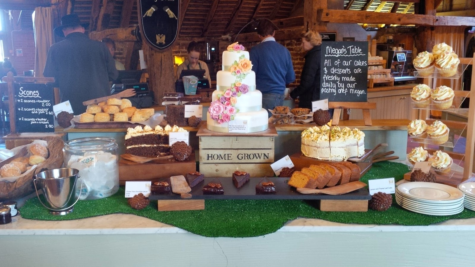 The desserts table at Leeds Castle's restaurant