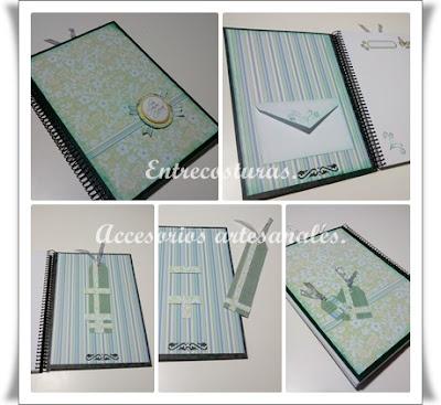 Cuadernos scrap 02. Entrecosturas. Accesorios artesanales.