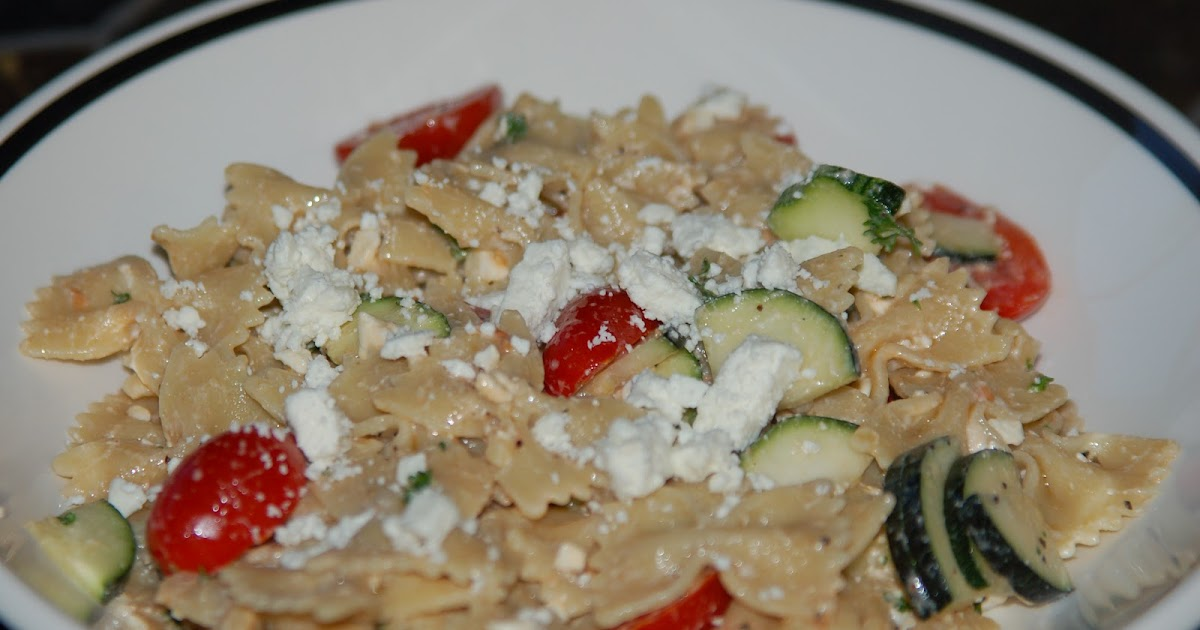 Pasta Salad With Tomatoes, Zucchini, And Feta Recipe — Dishmaps
