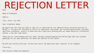 Sample rejection letter samples business letters sample rejection letter spiritdancerdesigns Gallery