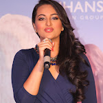 Sonakshi Sinha Sexy In Blue Skirt At Press Meet Of Her Announcement As Brand Ambassador Of Rajhans Group