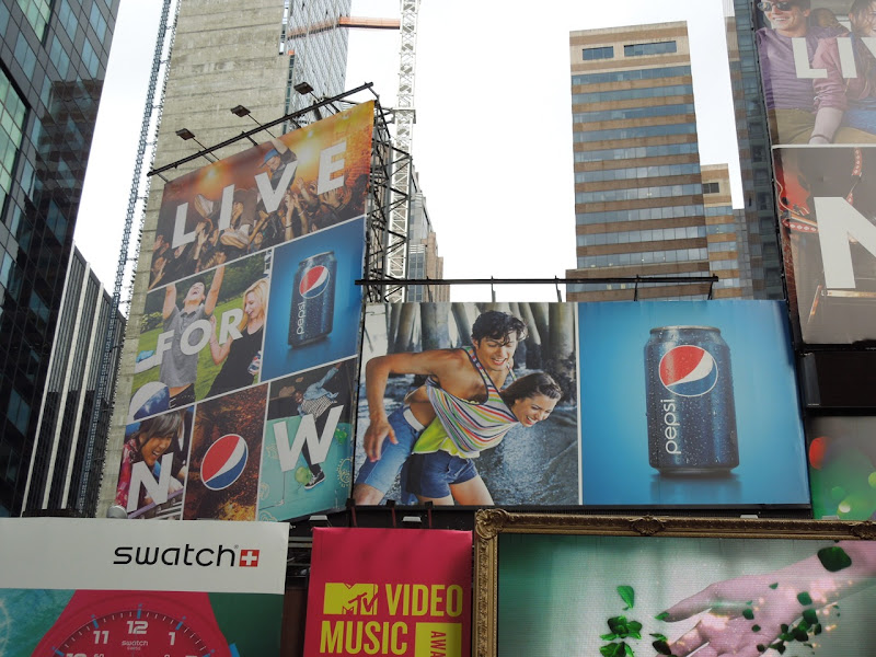 Pepsi Live for Now billboards NYC