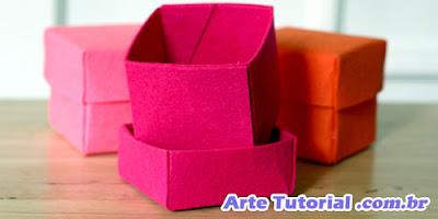 Como fazer caixas coloridas de feltro - Passo a passo