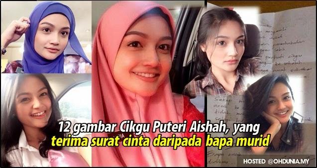 12 gambar Cikgu Puteri Aishah yang terima surat cinta dari bapa murid