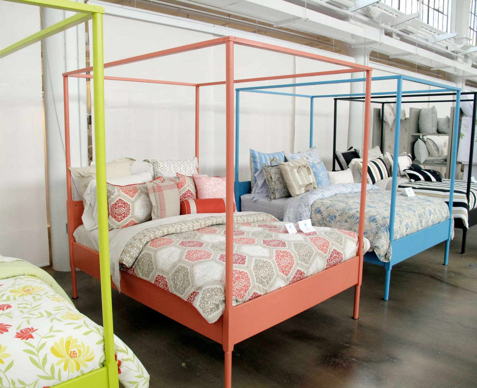The little house in the city bright idea painted ikea beds - Bedspreads for four poster beds ...