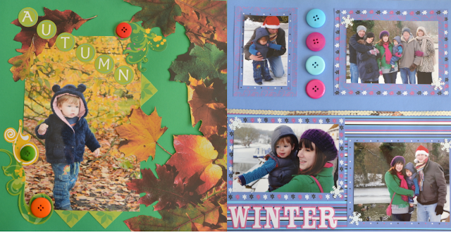 Autumn and Winter Scrapbook pages