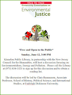 Environmentalism, Energy, Pollution at Kinnelon Library 6/12/11