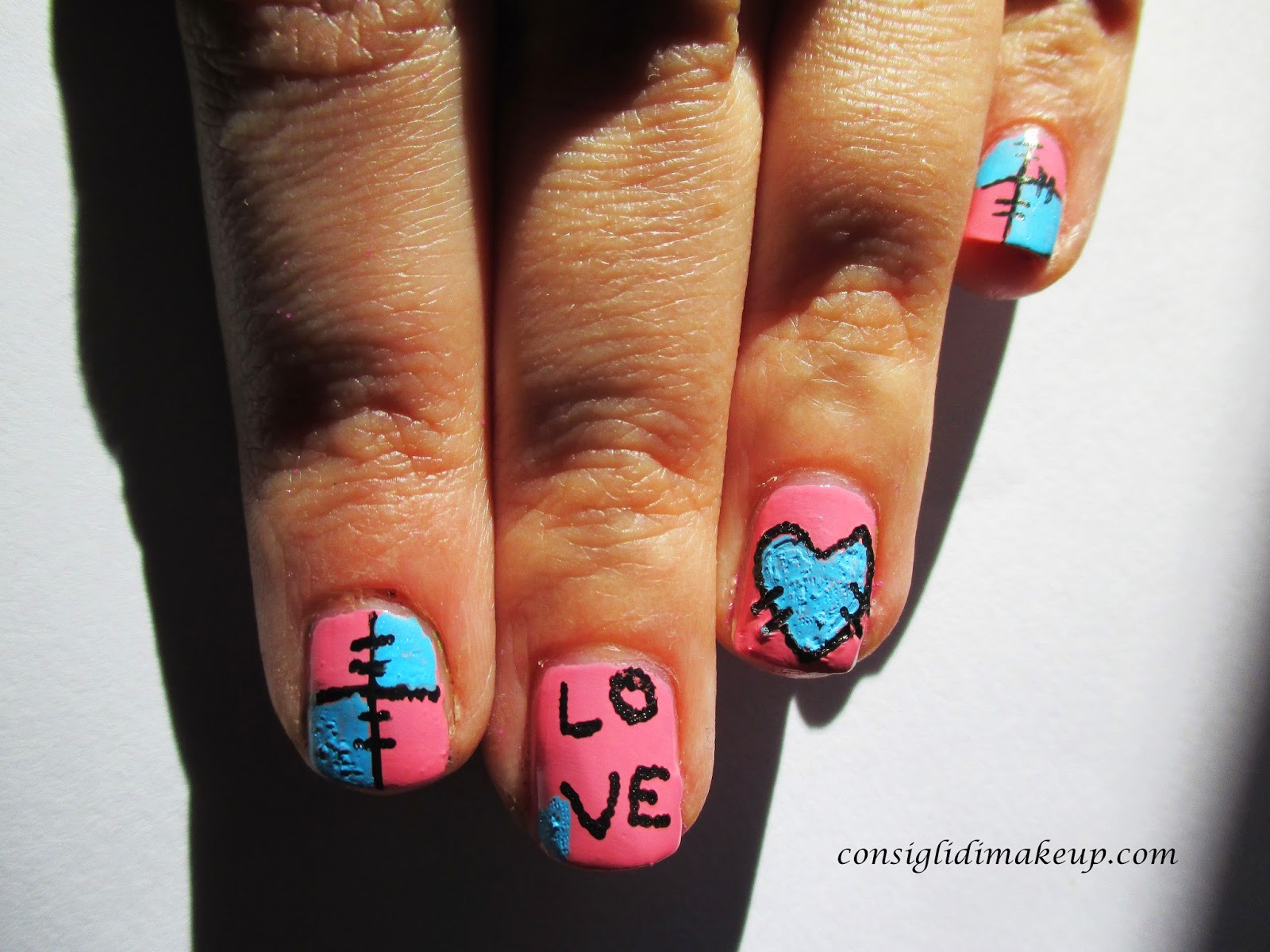 Nail art: Valentine's days