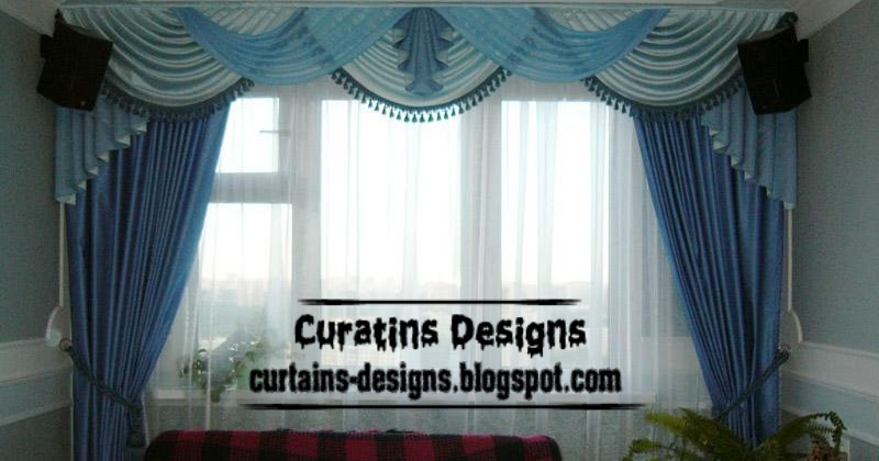 modern blue curtain and draperies for living room