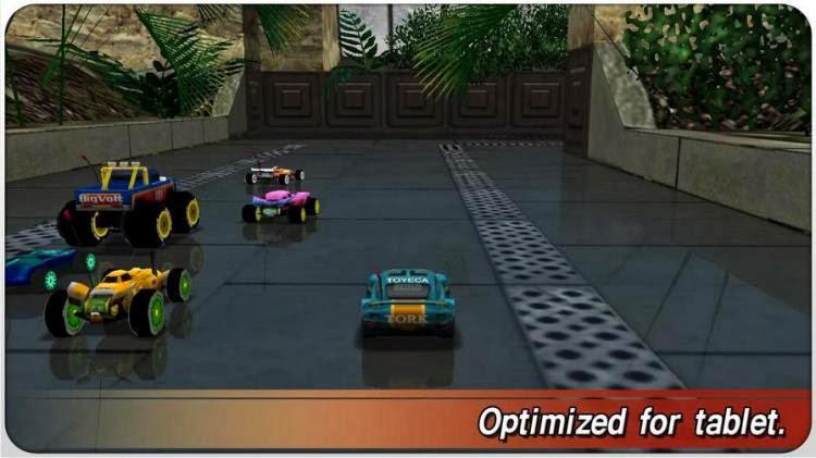 صورة من احد السباقات داخل لعبة  RE-VOLT 2 : Best RC 3D Racing