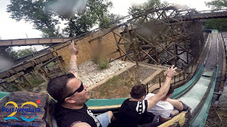 Silver River Flume -  Roller Coaster On Ride  | PortAventura 2015