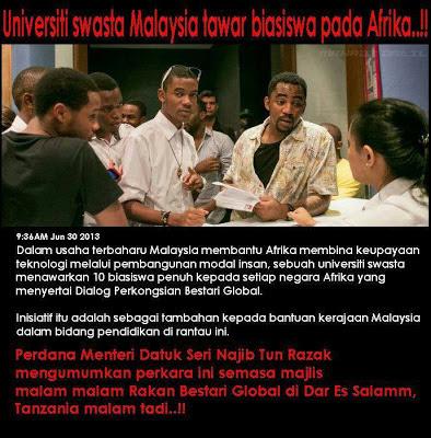 Perdana Menteri Malaysia Yang Sangat Prihatin | Dato Seri  Najib Bagi Biasiswa Pada Warga Afrika?
