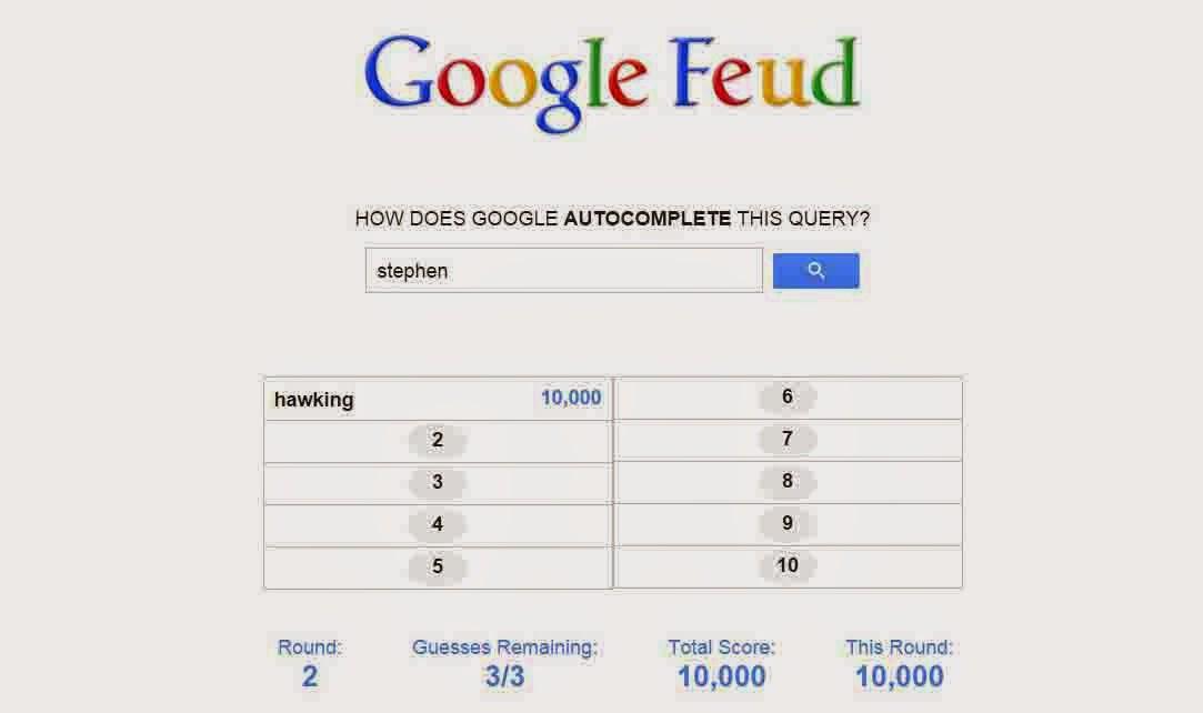 Google Feud Game